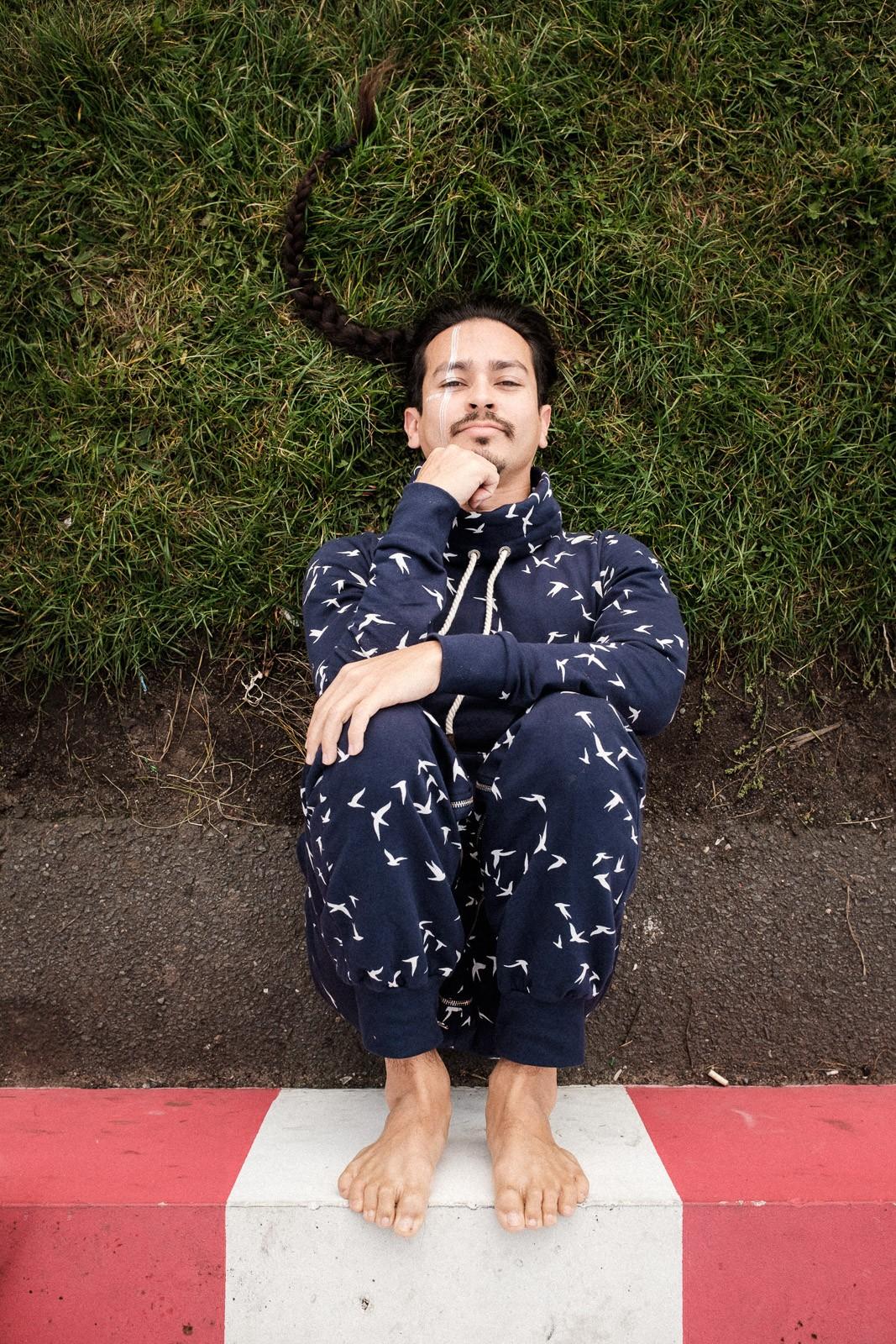 environmental portrait of contemporary creative dancer tempelhofer feld