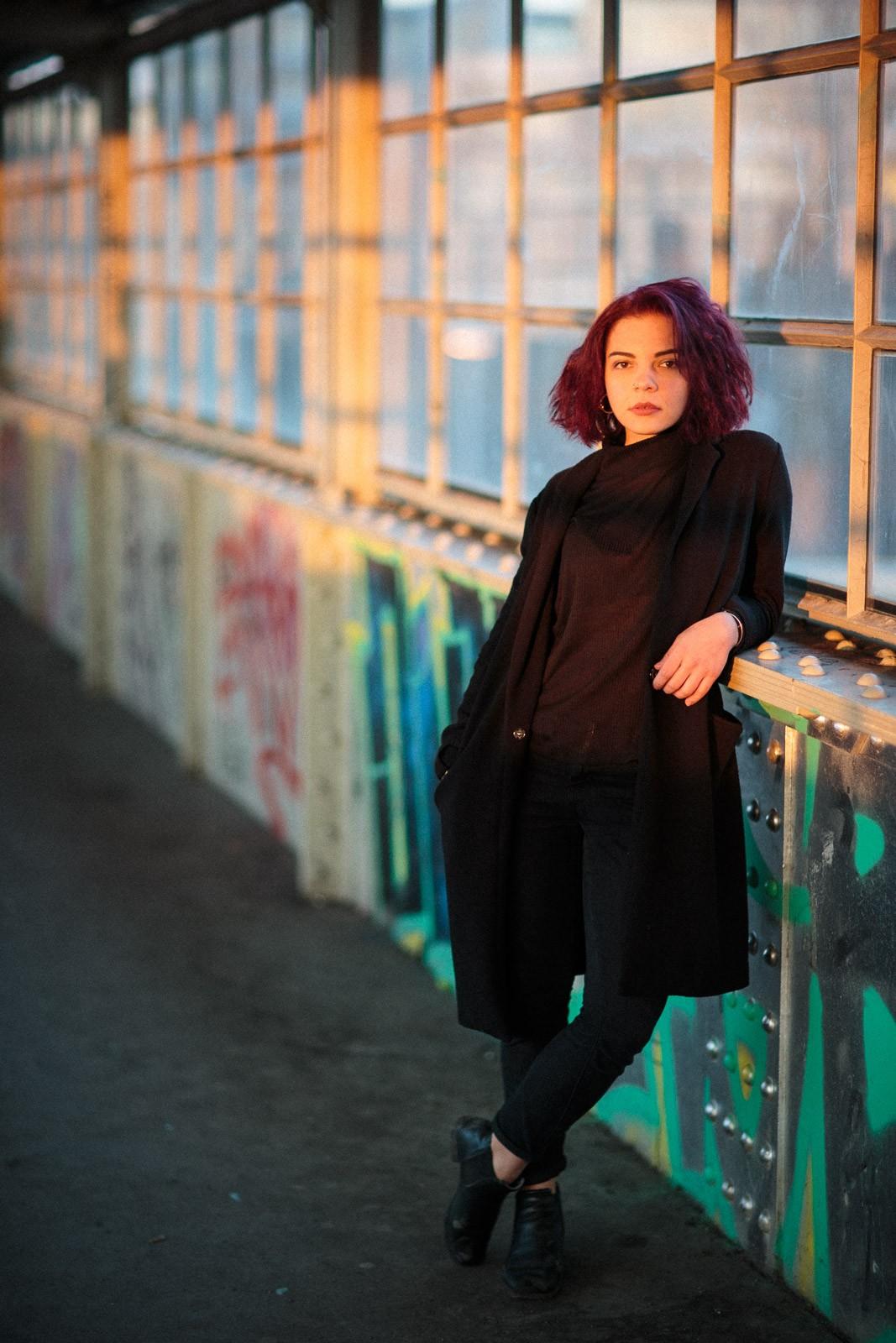 lara beins sunset portrait berlin