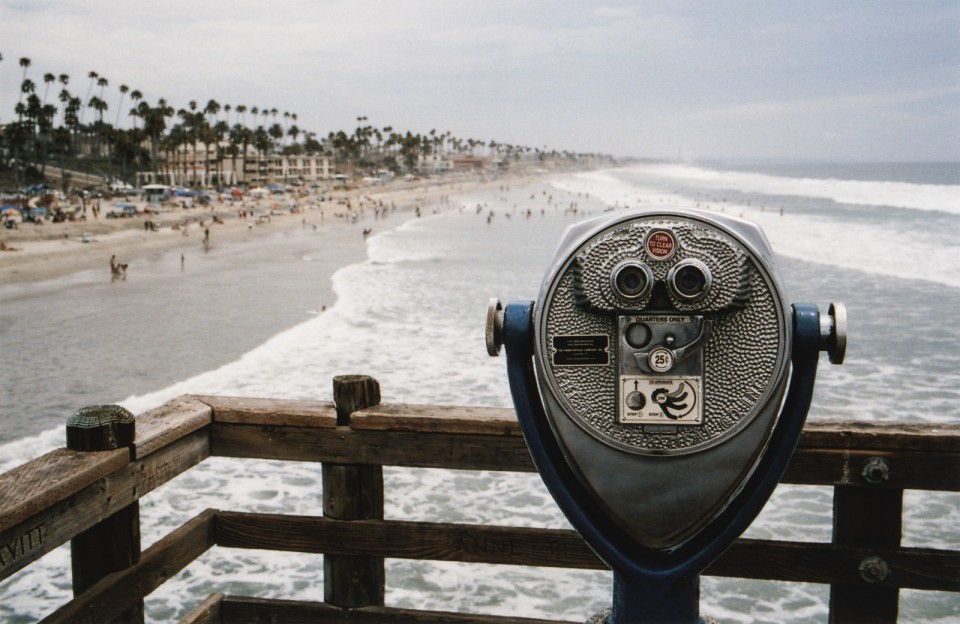 california coast beach oceasnside pier