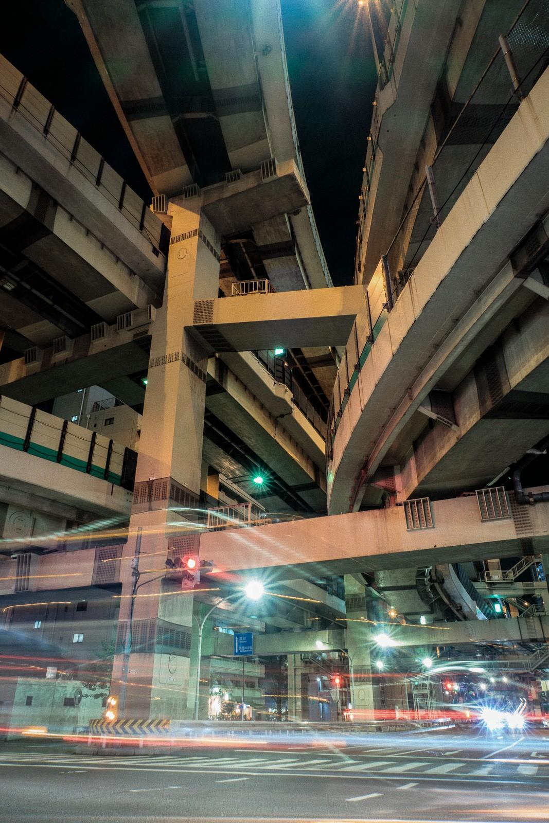 japan tokyo nihonbashi junction metropolis long exposure