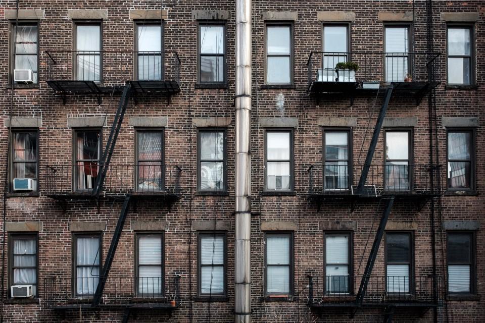 new york city high line fire escape balconies