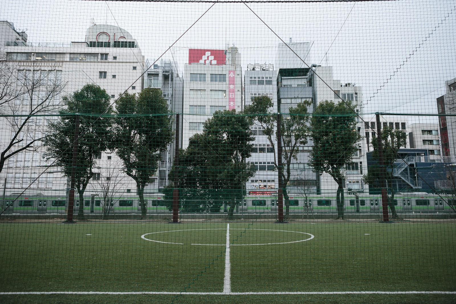 rooftop soccer field in shibuya