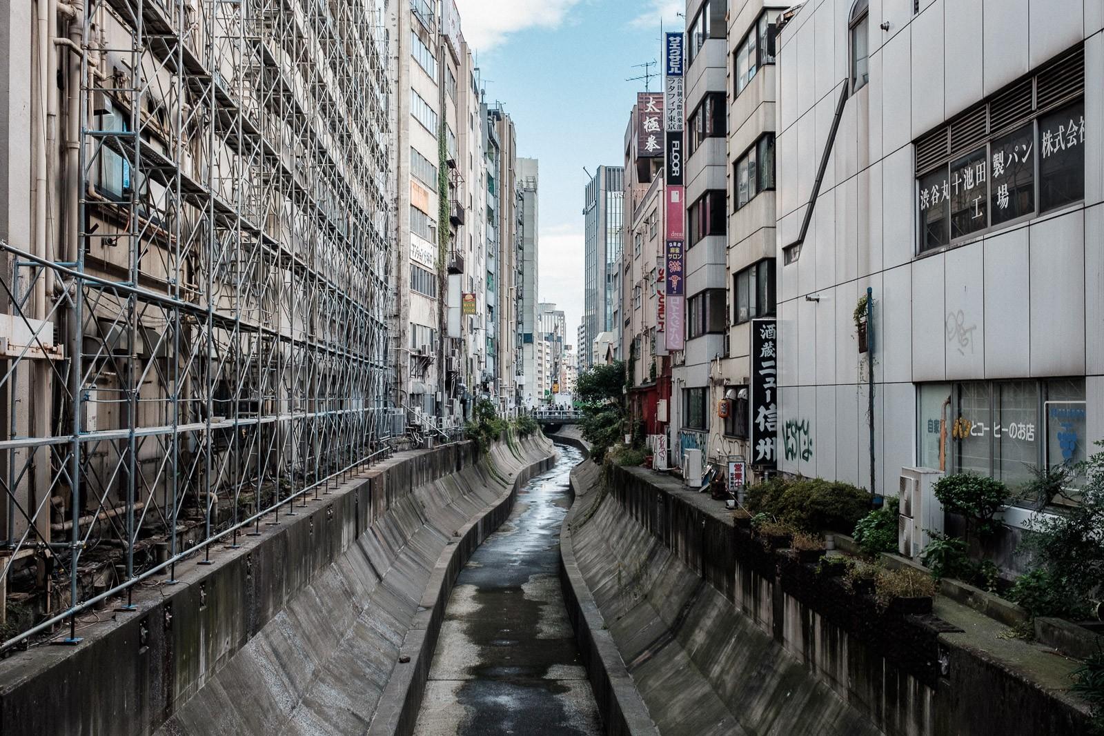 shibuya river construction site