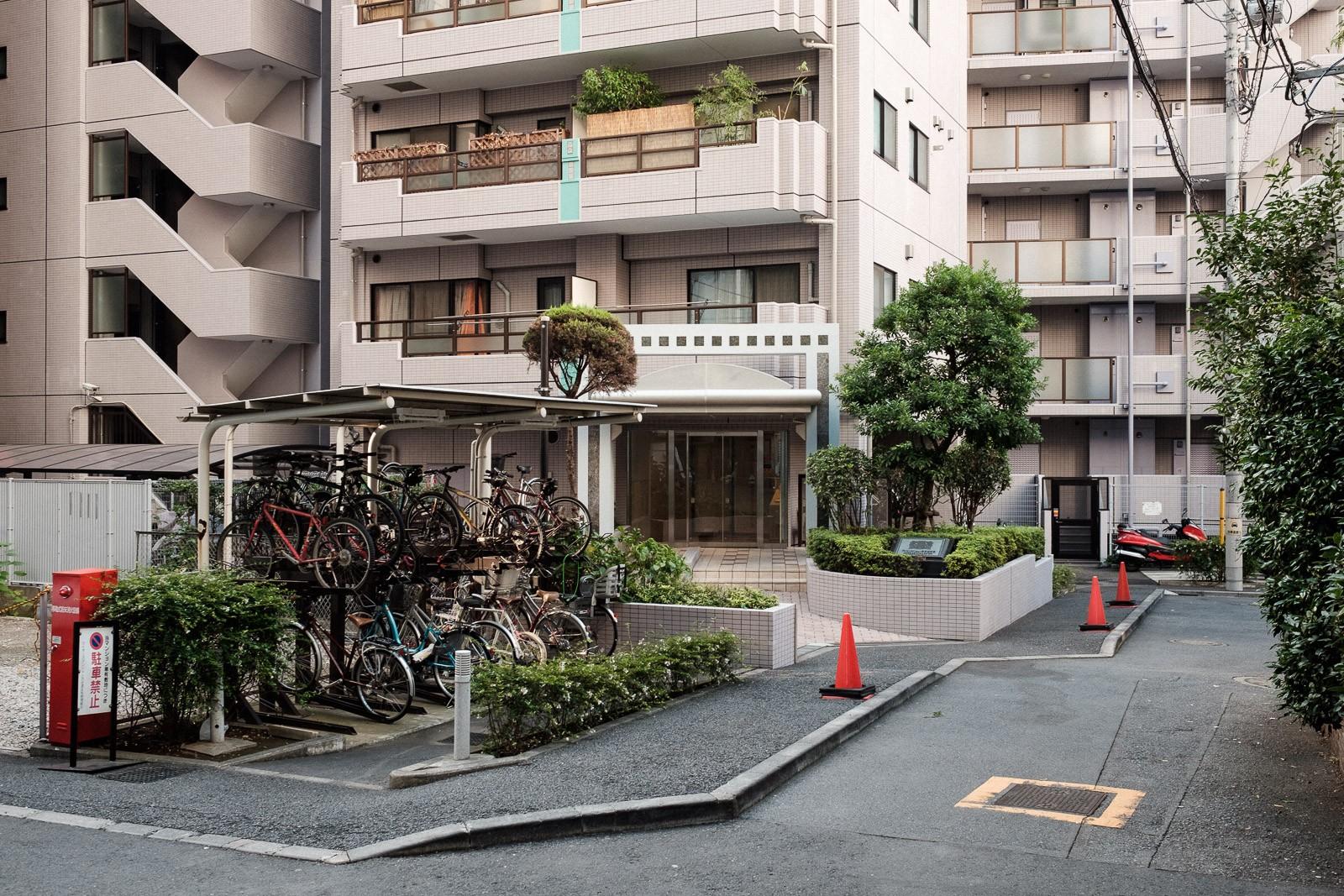apartment building in shinsen tokyo