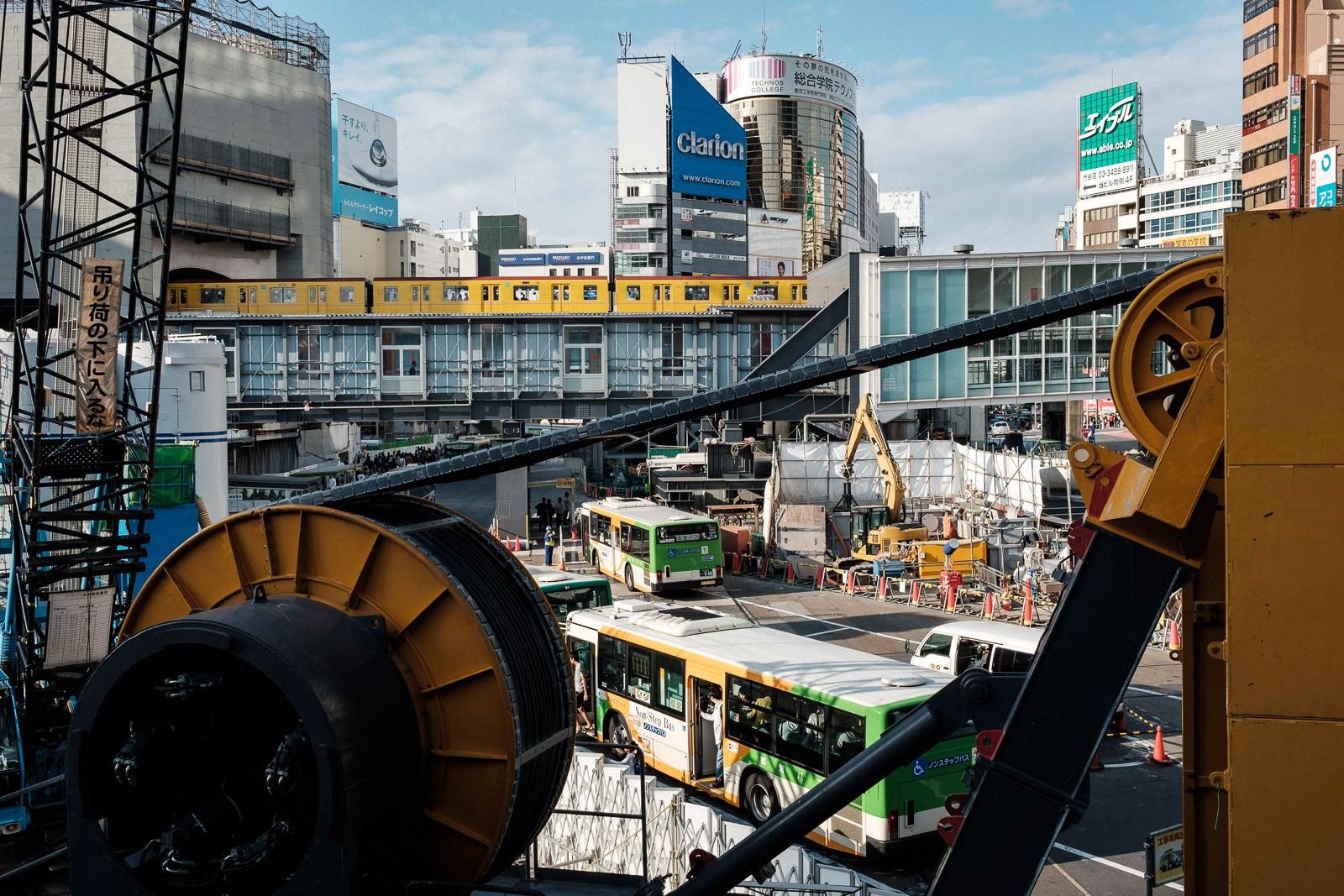 JR east construction site in shibuya Tokyo